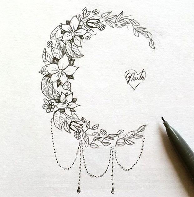 Esbozos de tattoos de flores