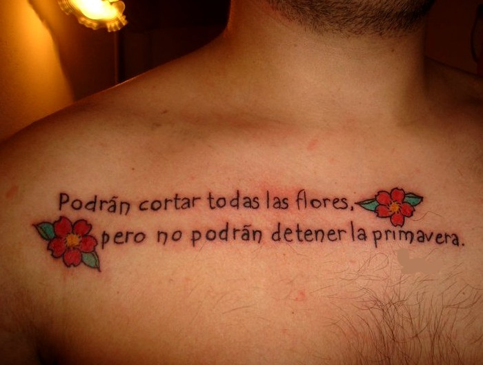 Frases célebres para tatuajes
