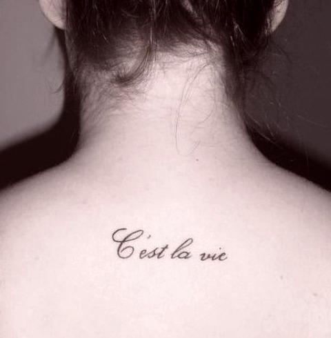 Frases en francés para tatuajes