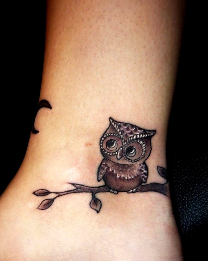 Tattoo de búho o lechuza