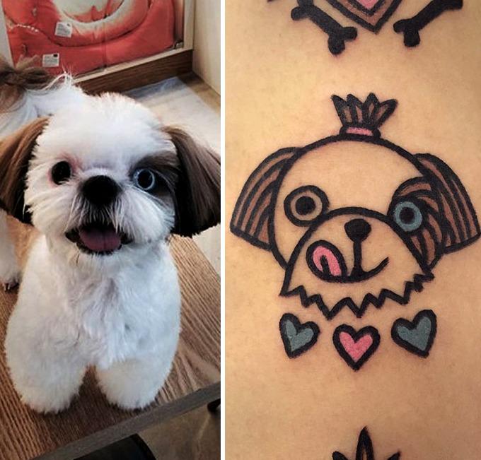 Tattoo de rostro de mascotas