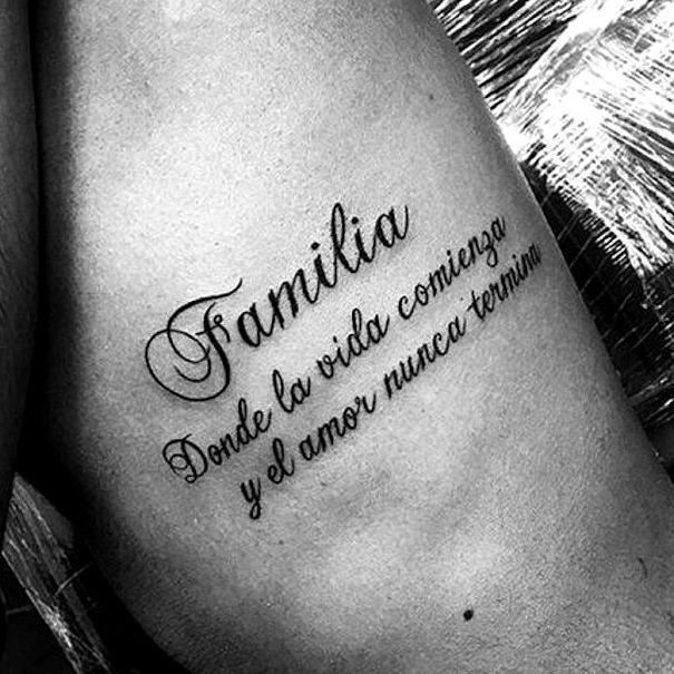 Tattoos con frases bonitas