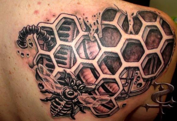 Tattoos de abejas y colmenas
