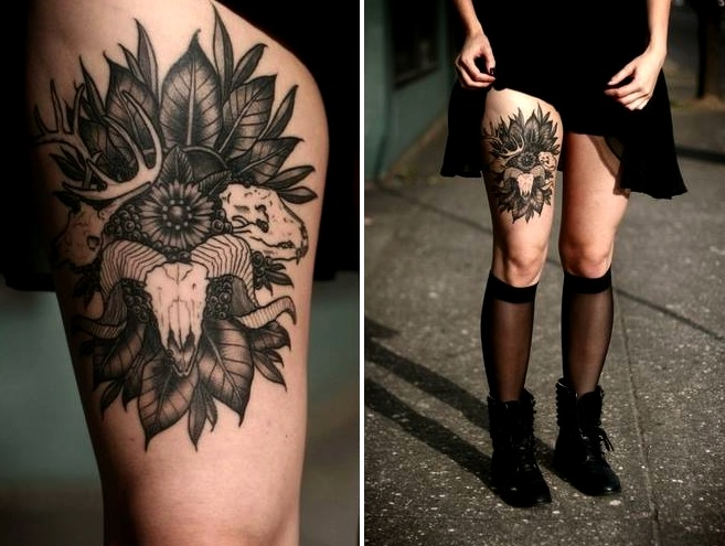 Tattoos de calaveras de animales