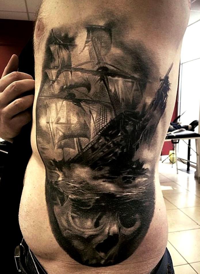 Tattoos de carabelas piratas