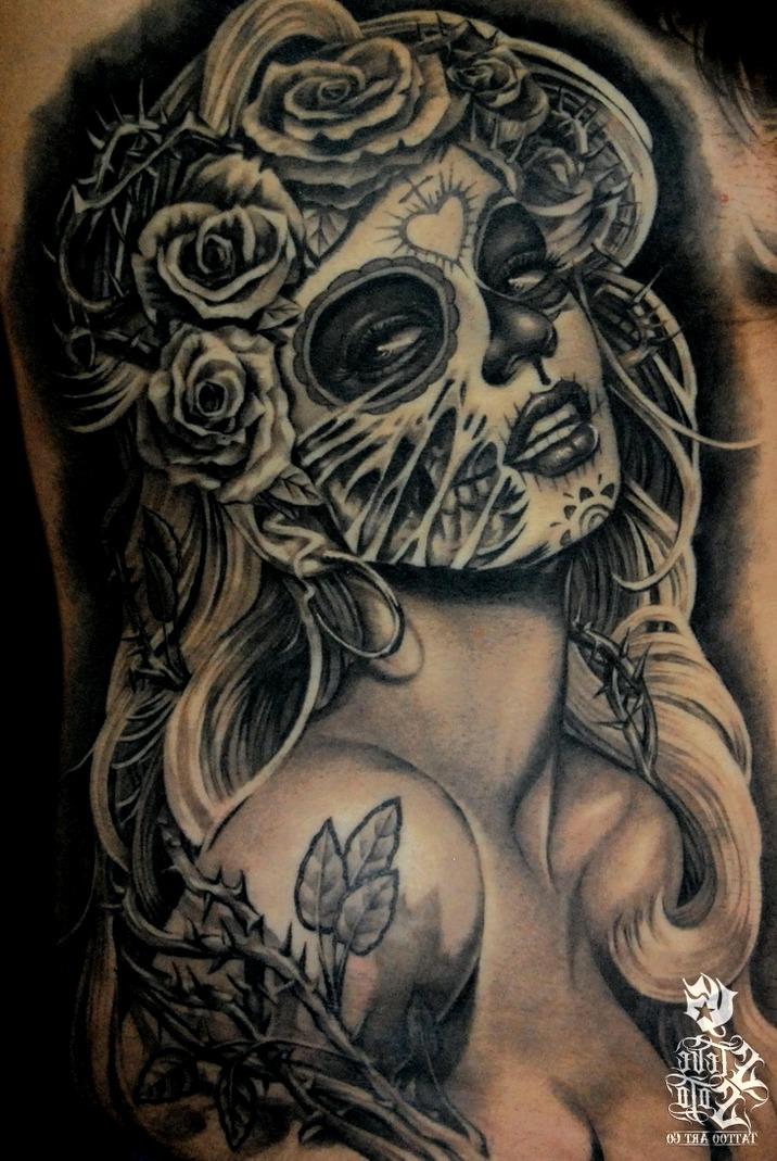 Tattoos de Catrina al estilo Marilyn Monroe