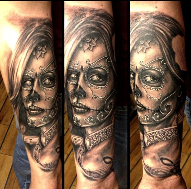 Tattoos de Catrinas en hombres