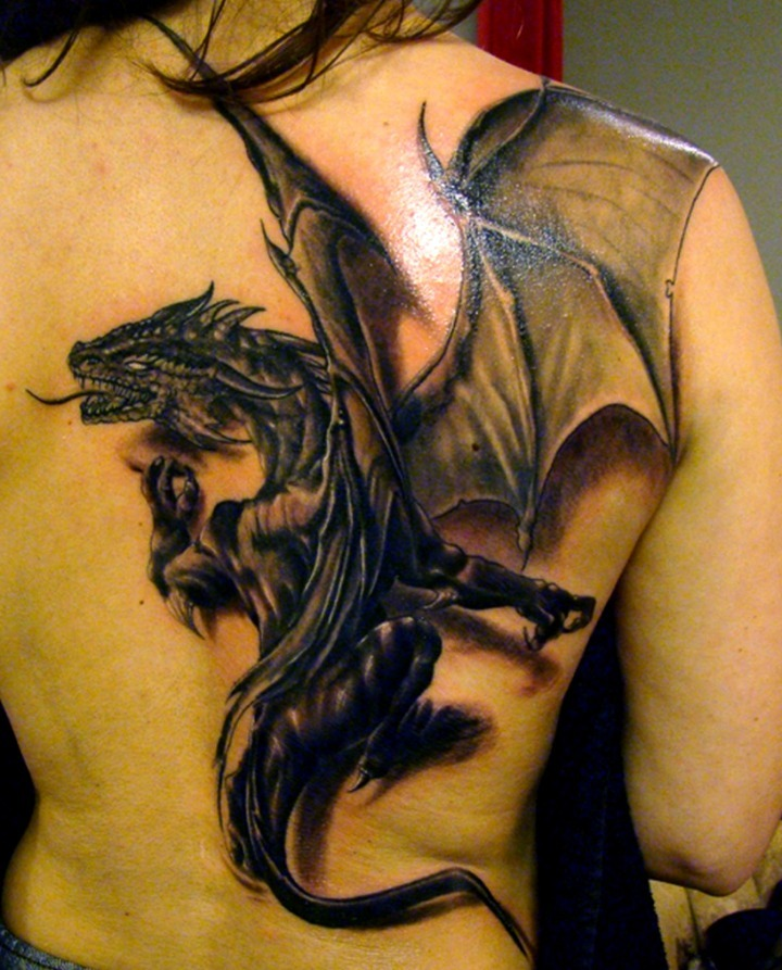 Tattoos de dragones en 3D