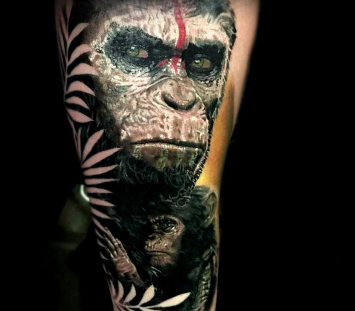 """Tattoos de """"El planeta de los simios"""""""