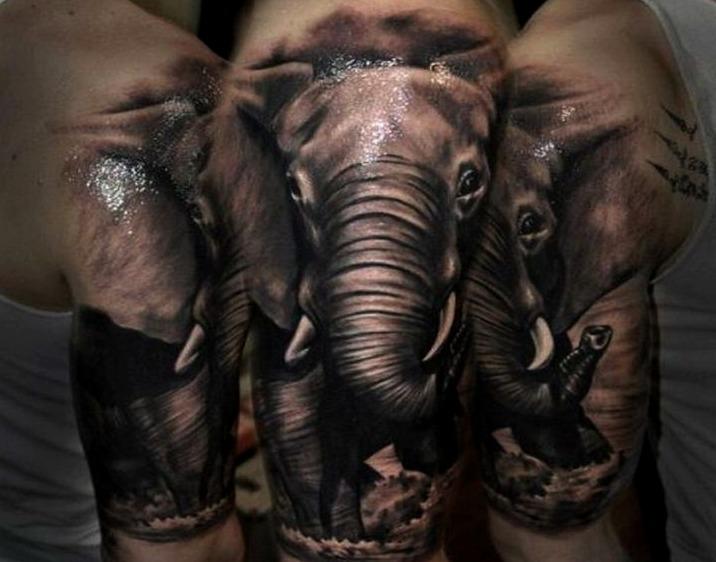 Tattoos de elefantes en 3d