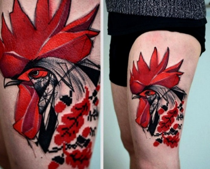 Tattoos de gallinas y gallos