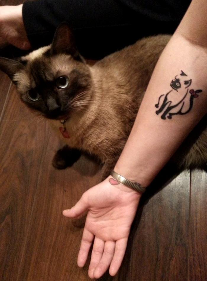 Tattoos de gato siamés