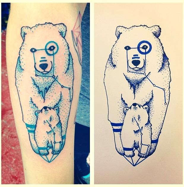 Tattoos de la estrella polar