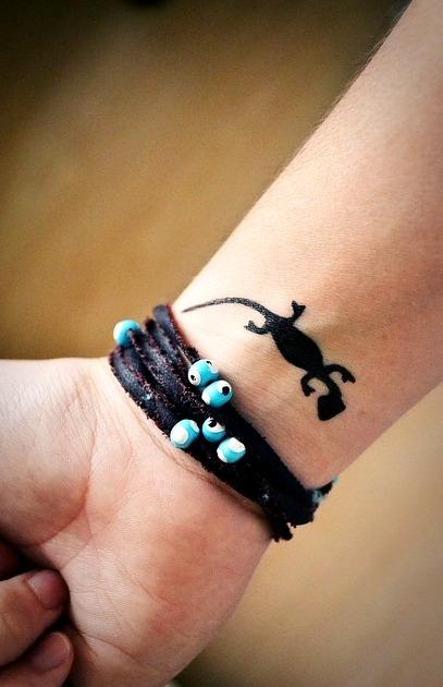 Tattoos de lagartija pequeña