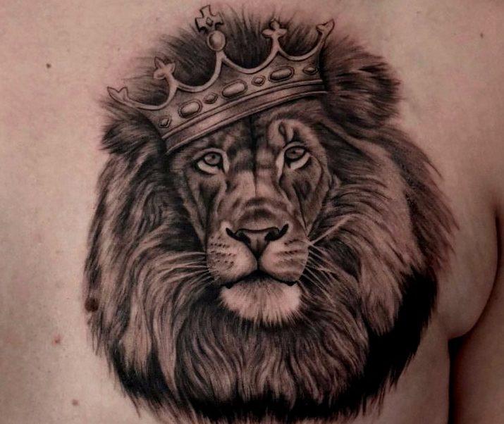 Tattoos de leones con corona