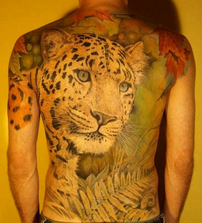 Tattoos de leopardos para hombres