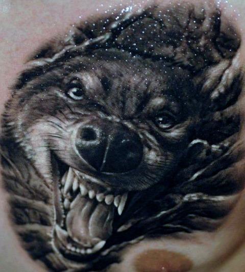 Tattoos de lobos en 3d