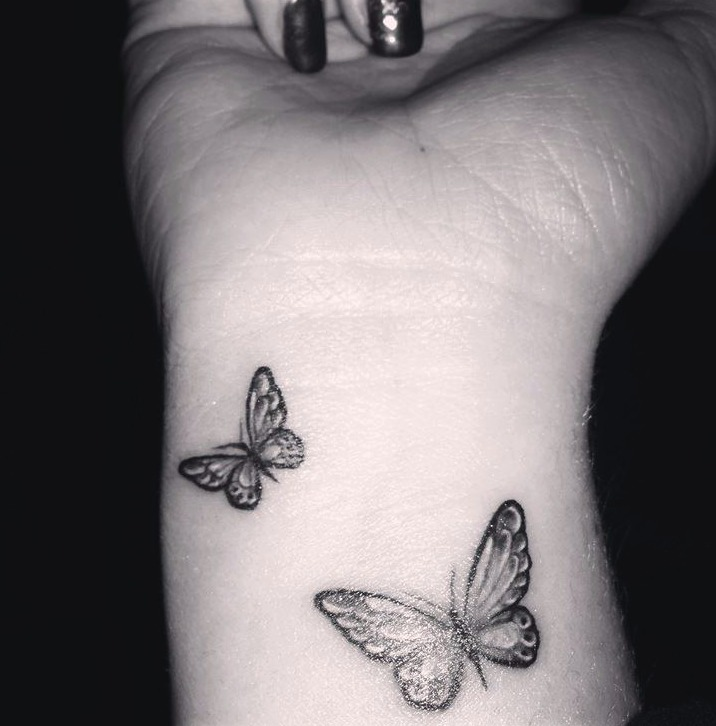Tattoos de mariposas pequeñas