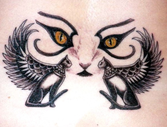Tattoos de ojos de gatos
