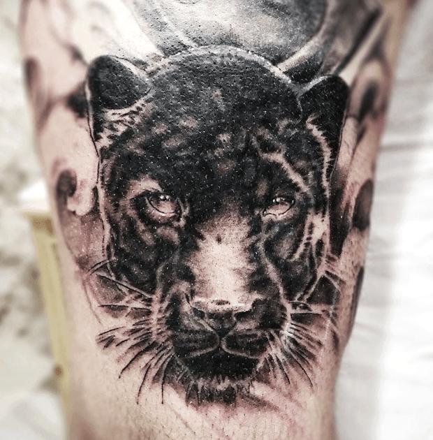 Tattoos de panteras realistas