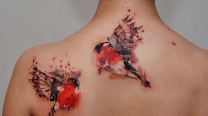 Tattoos de pareja de palomas