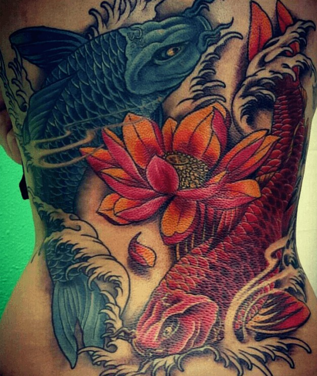 Tattoos de peces koi