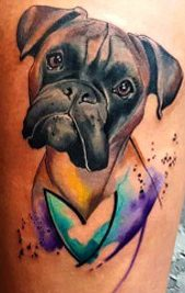 Tattoos de perro bóxer