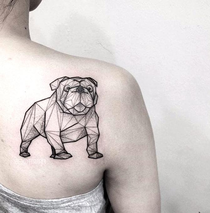Tattoos de perro bulldog