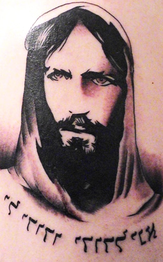 Tattoos de rostros o retratos religiosos