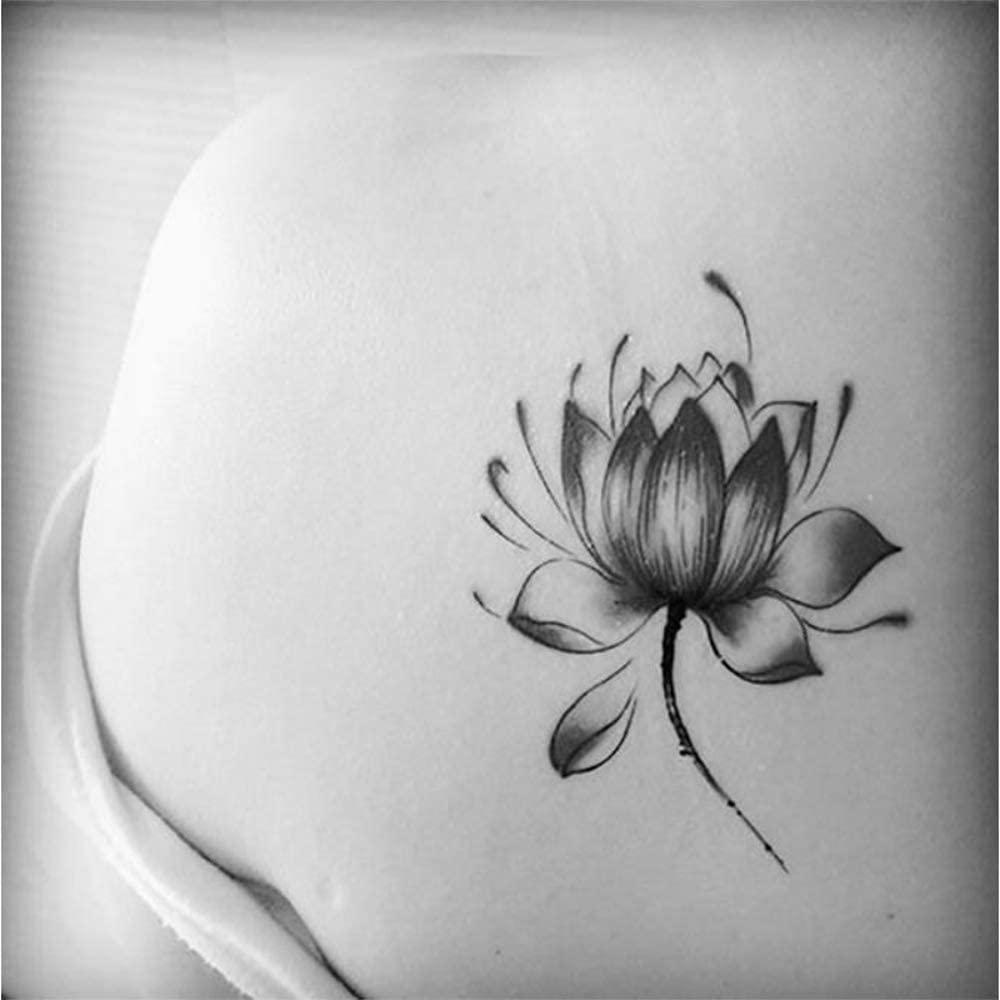 tatuaje blanco flor de loto