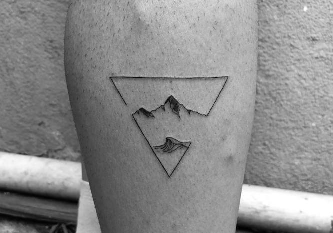 tatuaje minimalista naturaleza