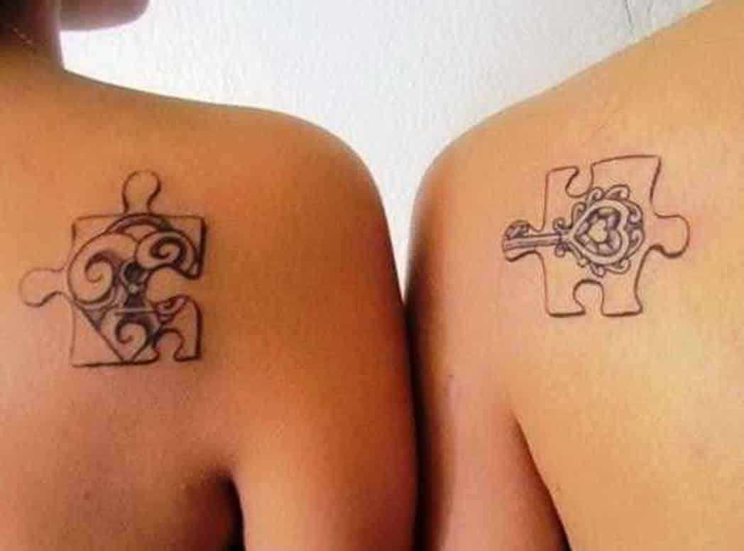 tatuaje puzzle madre e hija