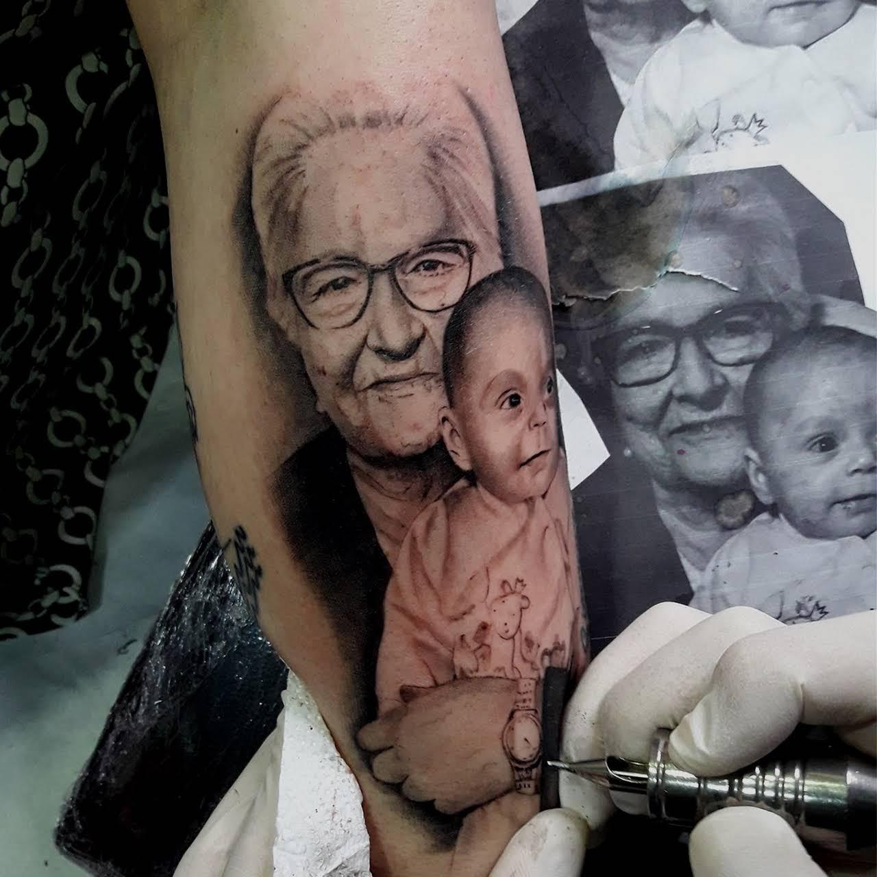 tatuaje retrato abuelo