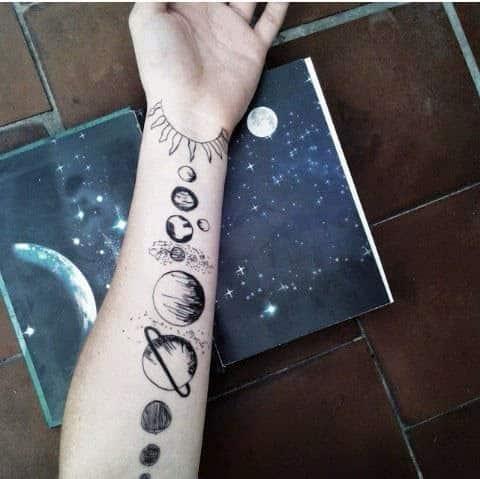 tatuajes astronómicos