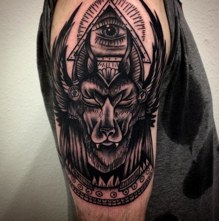 Tatuajes de Anubis