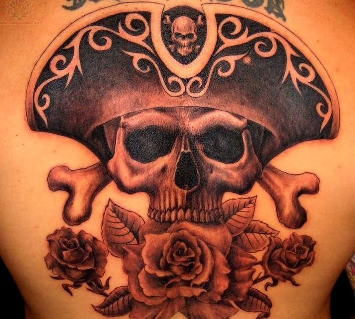 Tatuajes de calaveras al estilo piratas