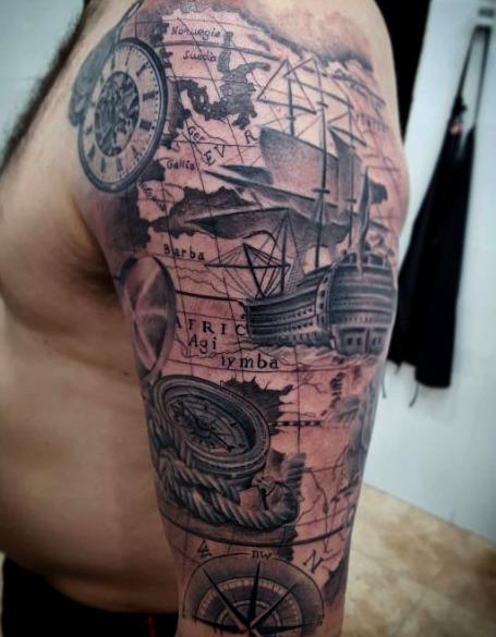 Las 24 Mejores Ideas De Tatuajes De Carabelas Hombremujer