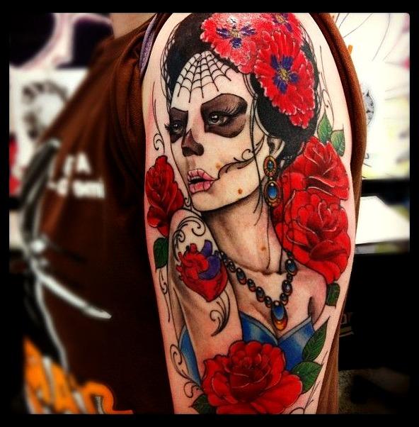 Tatuajes de Catrinas en mujeres