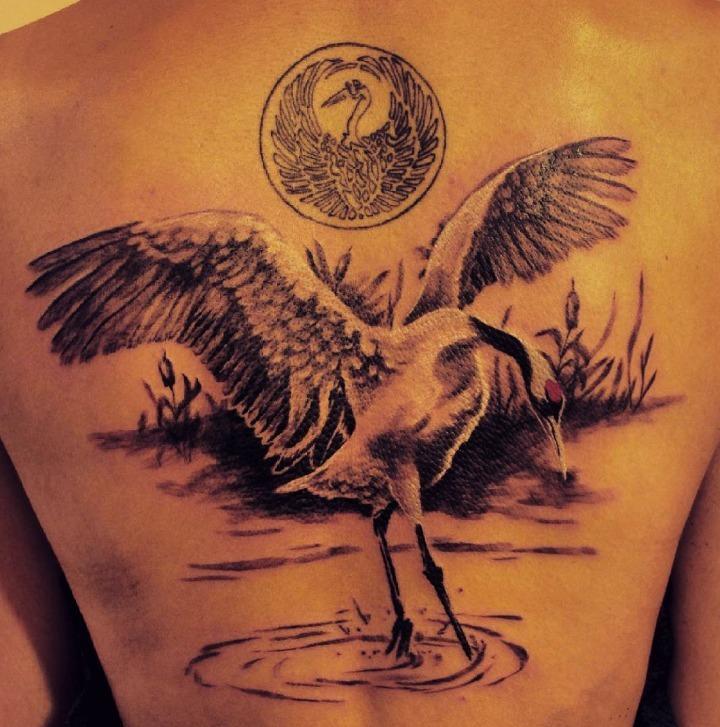 Tatuajes de cigüeña