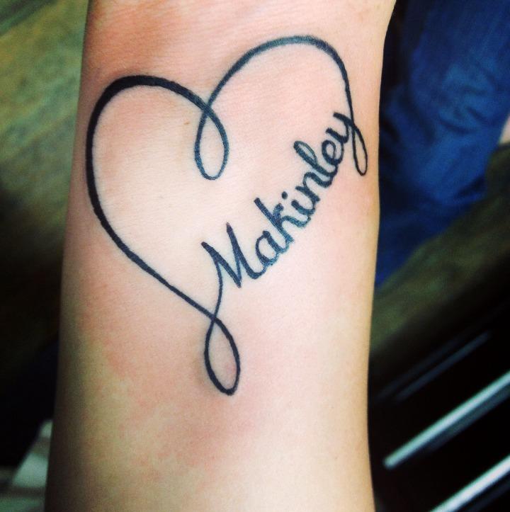 Tatuajes de corazones con nombres