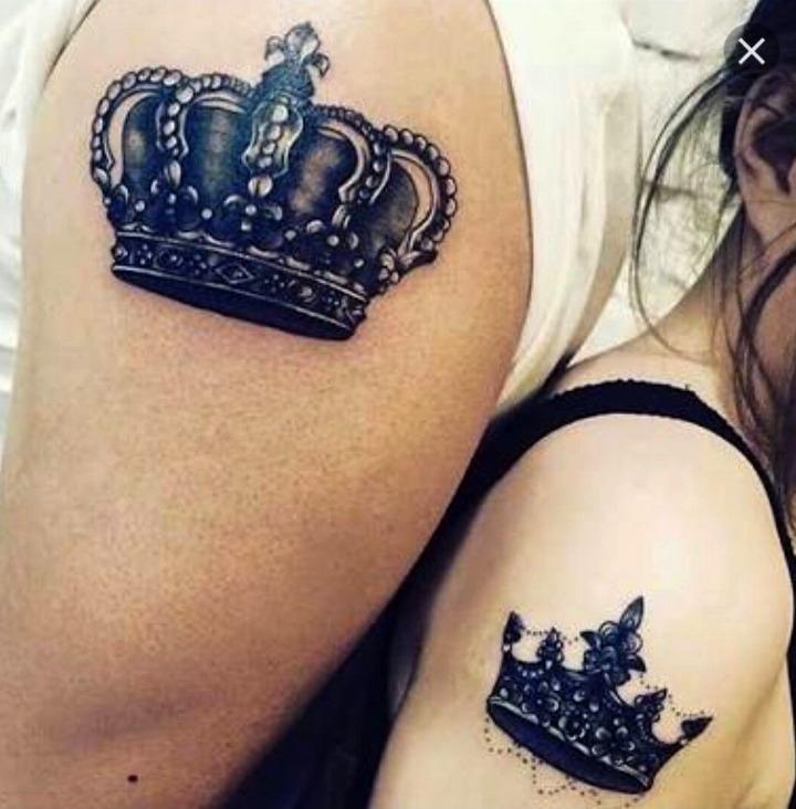 Tatuajes de coronas para parejas