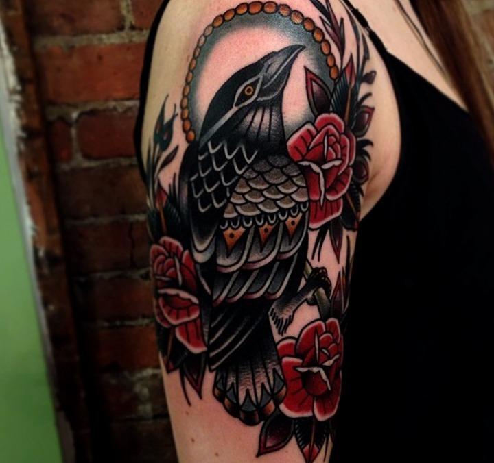 Tatuajes de cuervos
