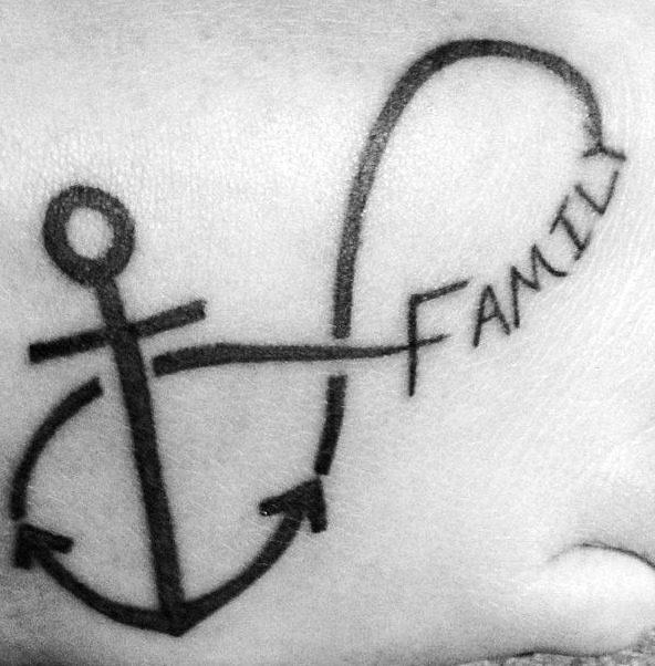 Tatuajes de del signo infinito para la familia