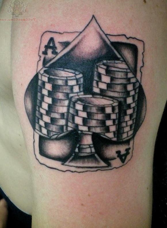 Tatuajes de fichas de poker