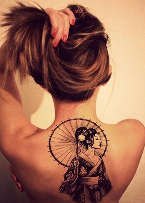 Tatuajes de geisha sexy