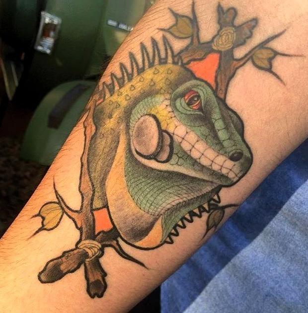 Tatuajes de iguanas
