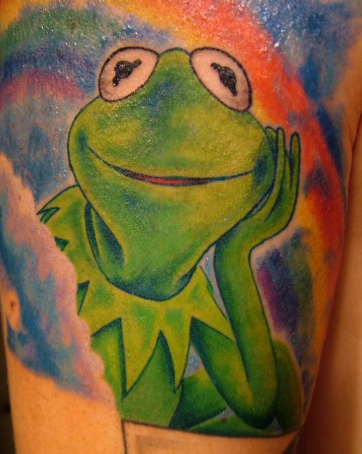 Tatuajes de la rana Gustavo de losTeleñecos