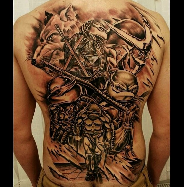 Tatuajes de las tortugas ninja