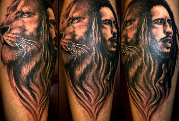 Tatuajes de león de Bob Marley:León de Judá
