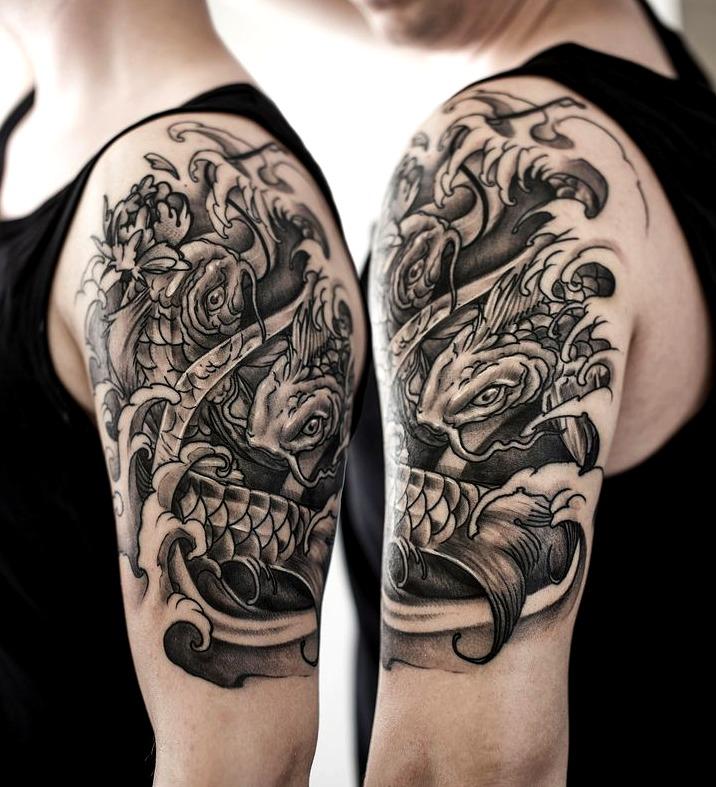Tatuajes de manga en el brazo